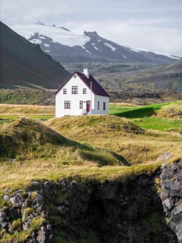 Einsames Gehöft Island