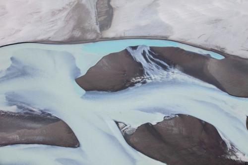 Schmelzwasserlauf Kluane Gletscher