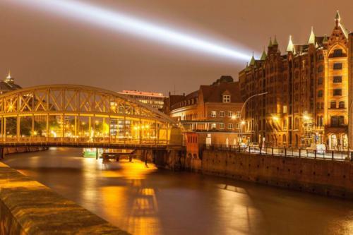 Speicherstadt Hamburg Lichtverbindung