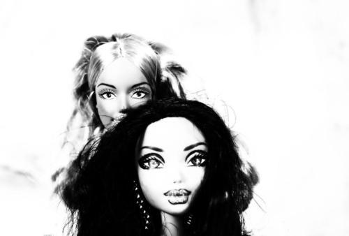 Barbies vor der Linse