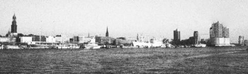 Hafen Pano Hamburg Grobes Korn Analog